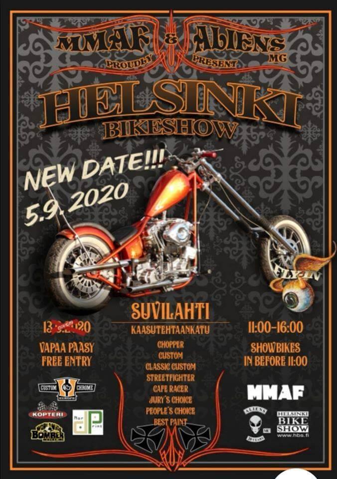 Helsinki Bike Show 2020 mainosjuliste