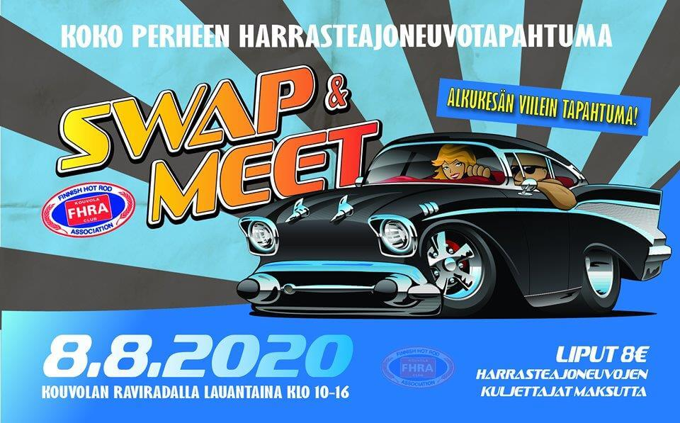 Kouvola Swap & Meet 2020 tapahtuman juliste