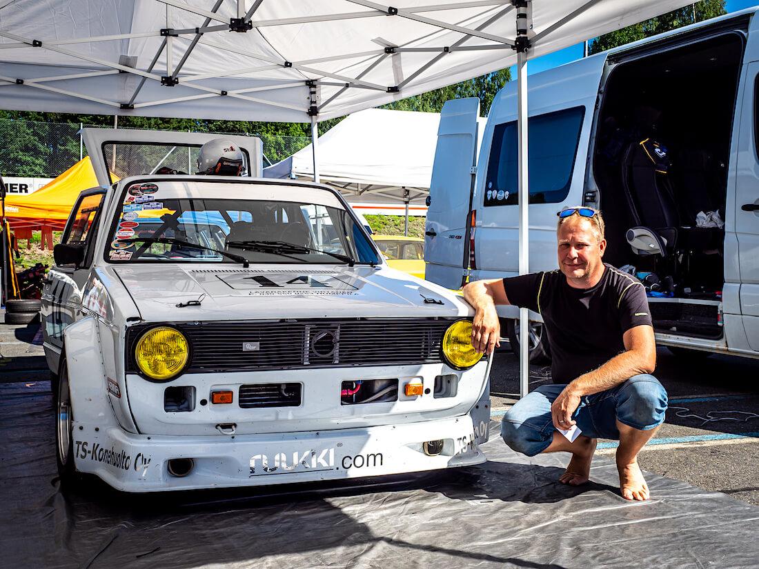 Juha Laaksosen 1981 Volkswagen Golf 16S kilpa-auto