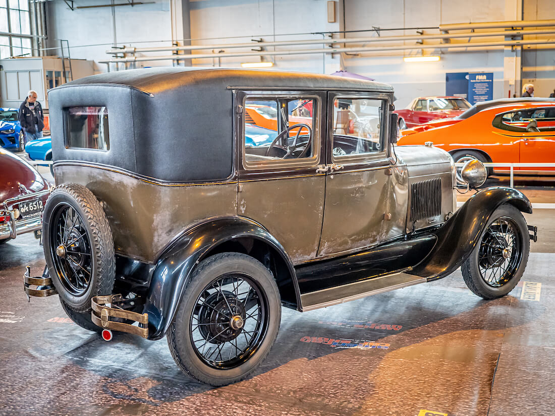 1928 Ford A Fordor Leatherback sedan