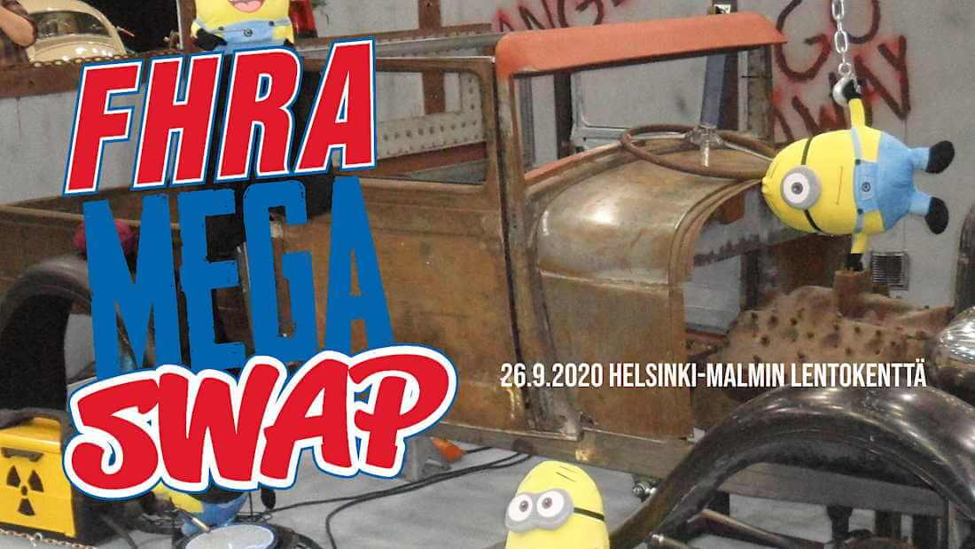 FHRA Mega Swap 2020 Malmin lentoasemalla mainos
