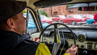 Lauri Kiviranta Volvo Amazonin ratin takana