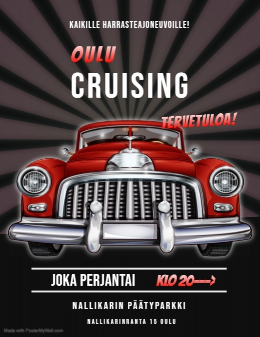 Oulu Cruising mainosjuliste