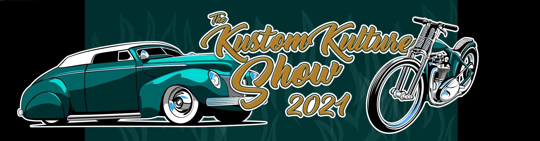 Kustom Kulture Show 2021 mainosbanneri. Kuva: KKS.