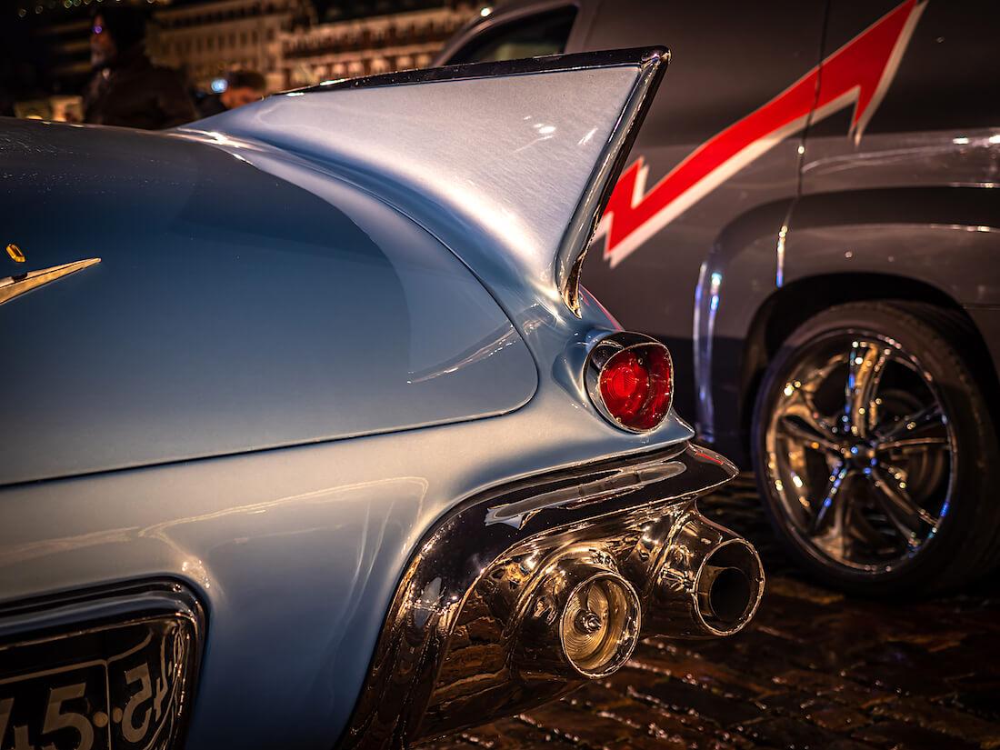 1957 Cadillac Eldoradon takasiipi ja takavalot