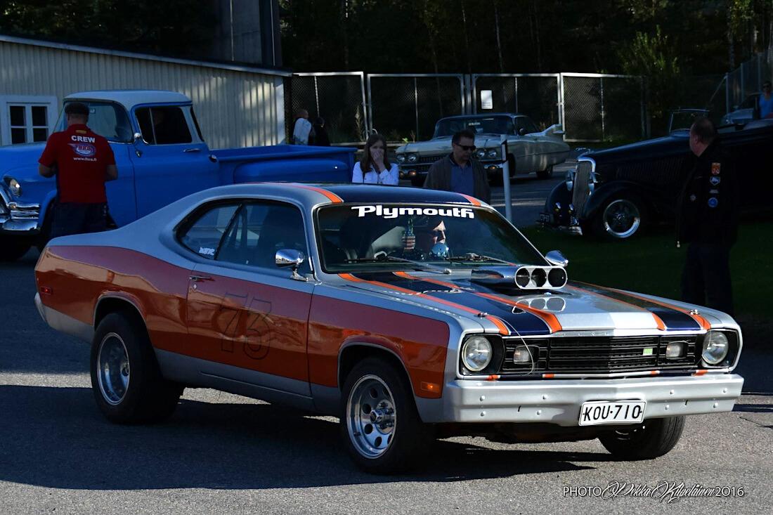 Thony Numanin 1973 Plymouth Duster. Kuva: Pekka Kilpeläinen.