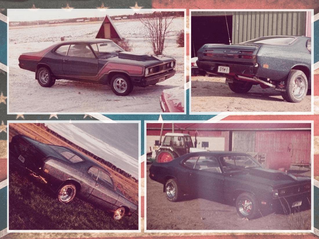 Hottentotti-tyyliin rakennettu 1970 Plymouth Duster