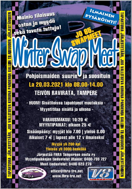 Winter Swap Meet 2021 mainosjuliste