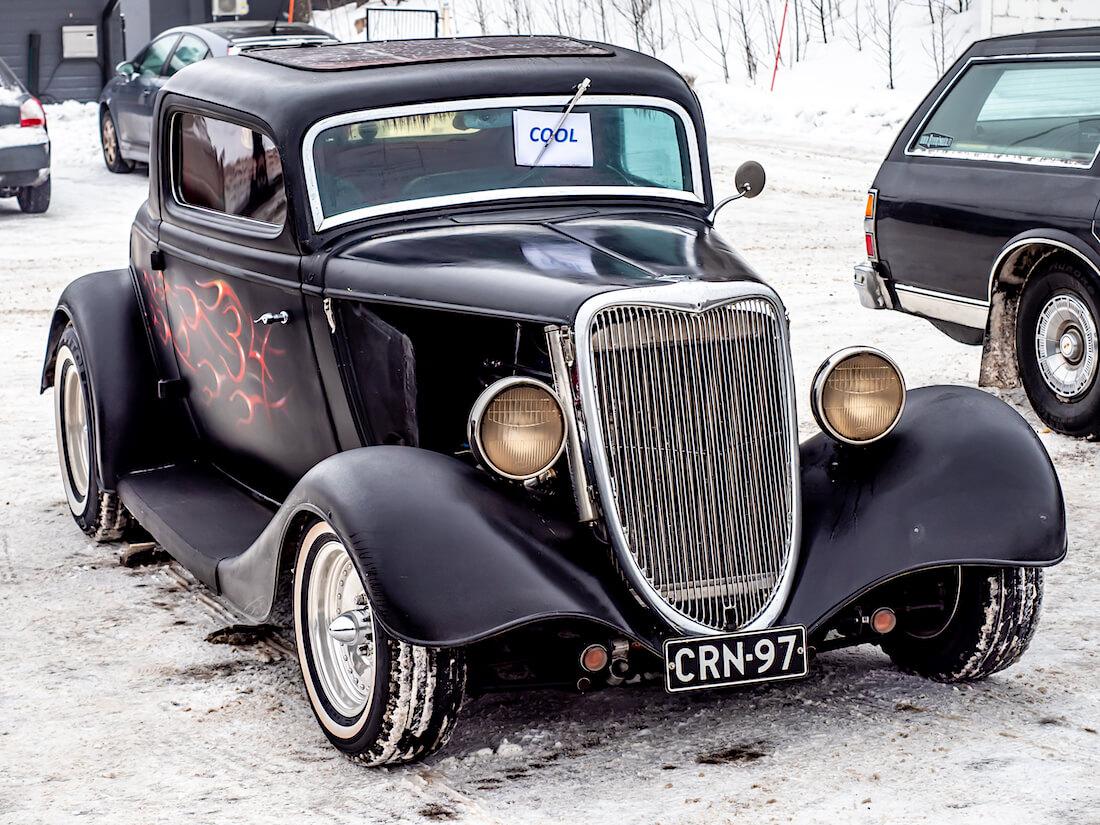 Näyttelyvoittaja 1934 Ford Model B 3window coupe rodi