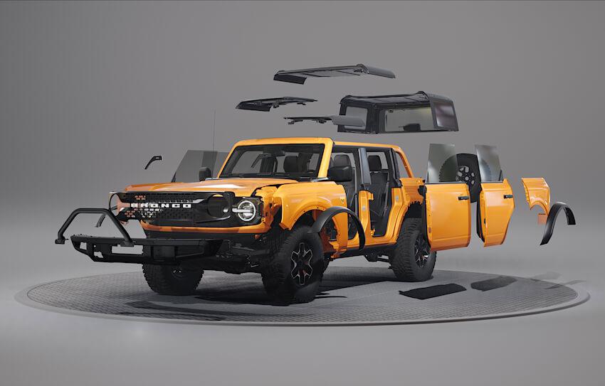 2021 Ford Broncon modulaarinen korirakenne