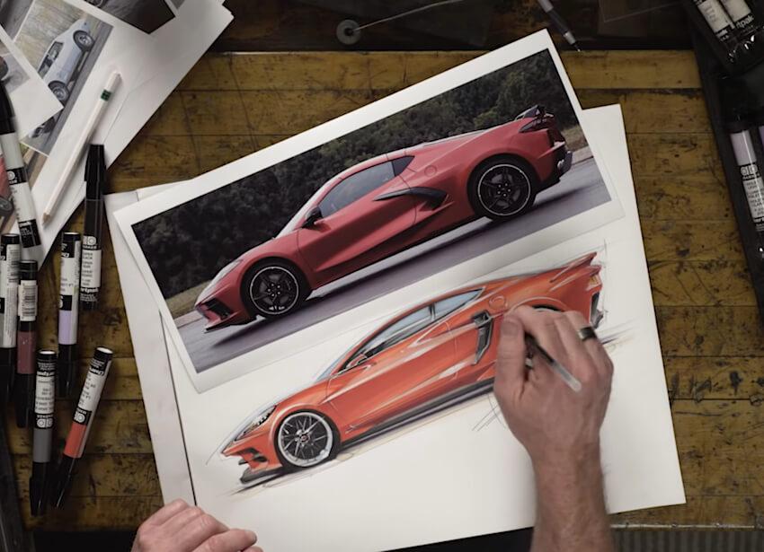 Chip Foose piirtää customoidun C8 Corvetten