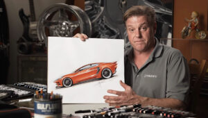 Autonsuunnittelija Chip Foose ja custom C8 Corvette Stingray.