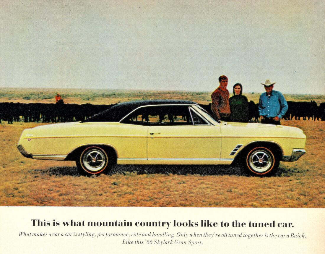 1966 Buick Skylark Gran Sportin mainoskuva