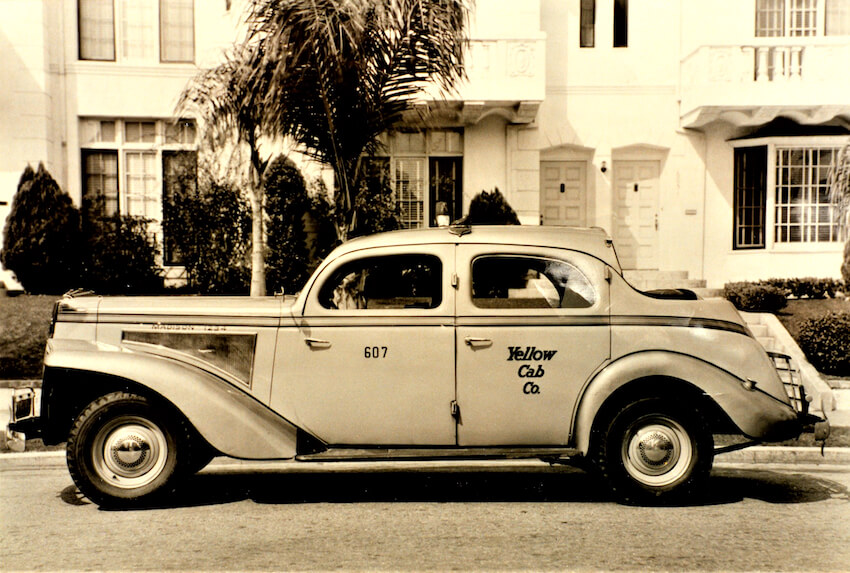 1940 Checker Model A Landaulet New Yorkin taksi. Kuva: Alden Jewell.