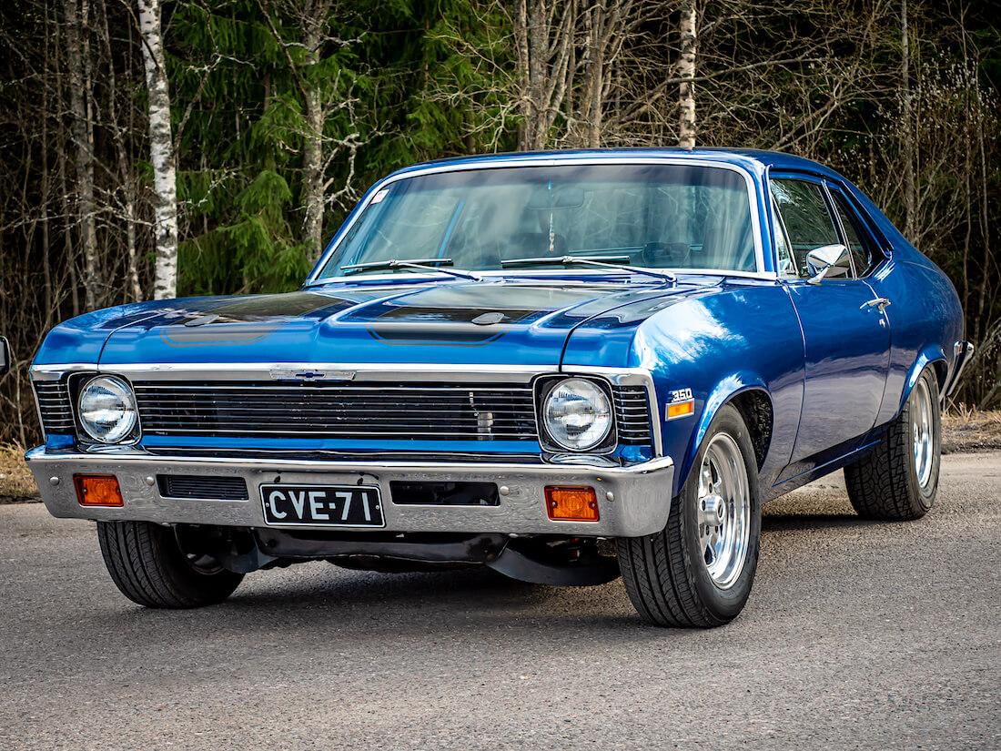1971 Chevrolet Nova 350cid V8 edestä