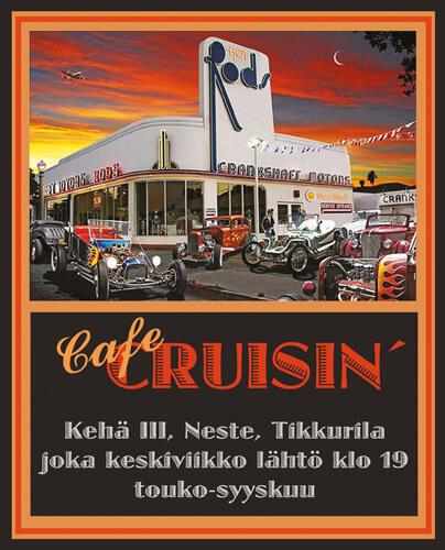 Cafe Cruisin' 2021 rodeille Kehäkessalla