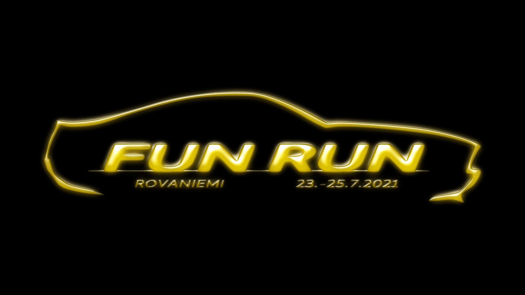 Mustang kerhon FunRun 2021 Rovaniemi mainos