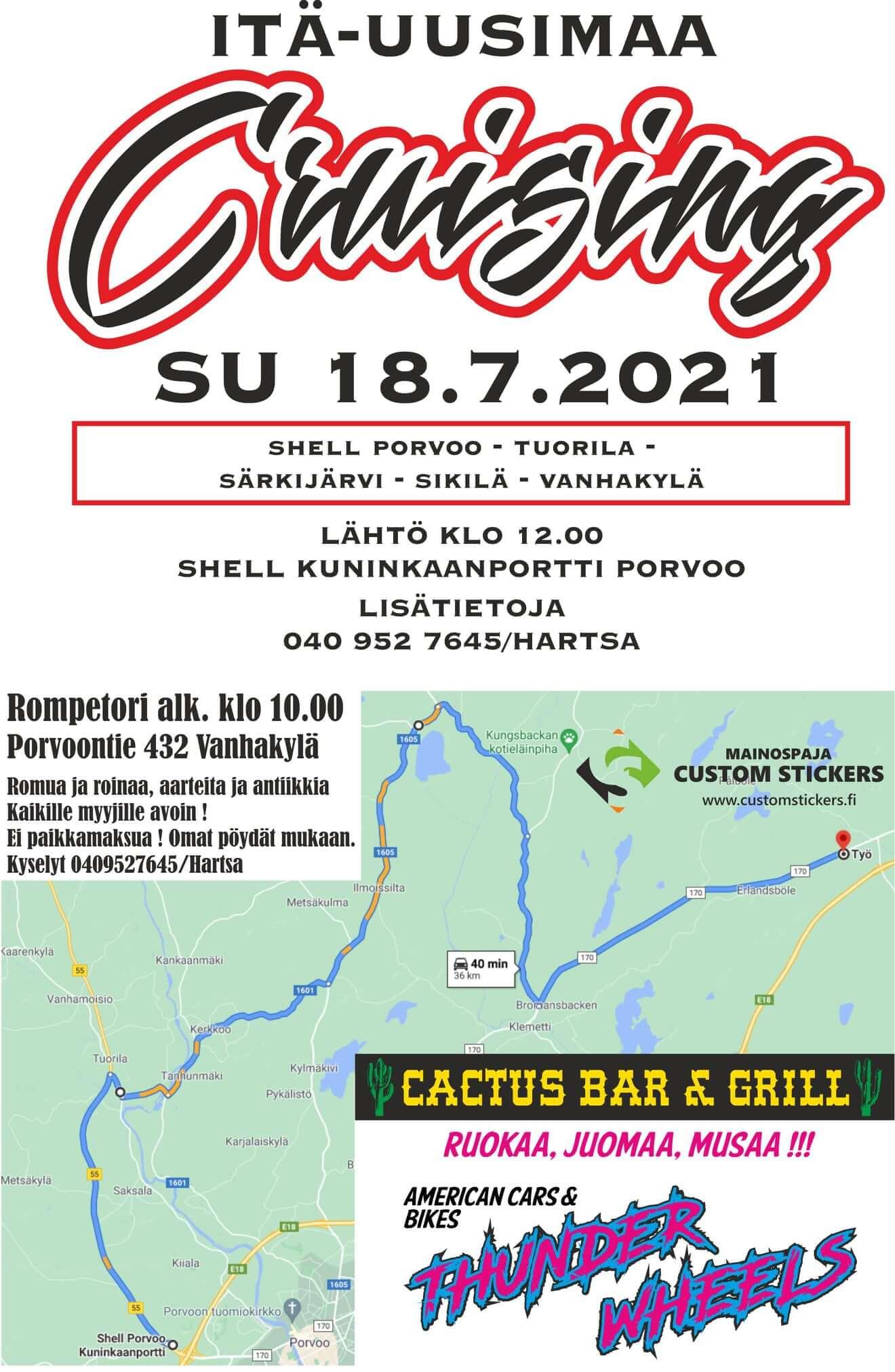 Itä-Uusimaa Cruising 18.7.2021