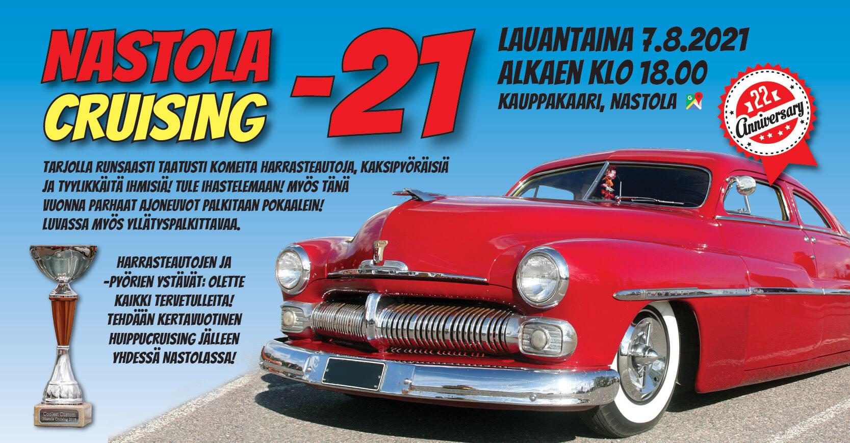 Nastola Cruising 7.8.2021 mainosjuliste