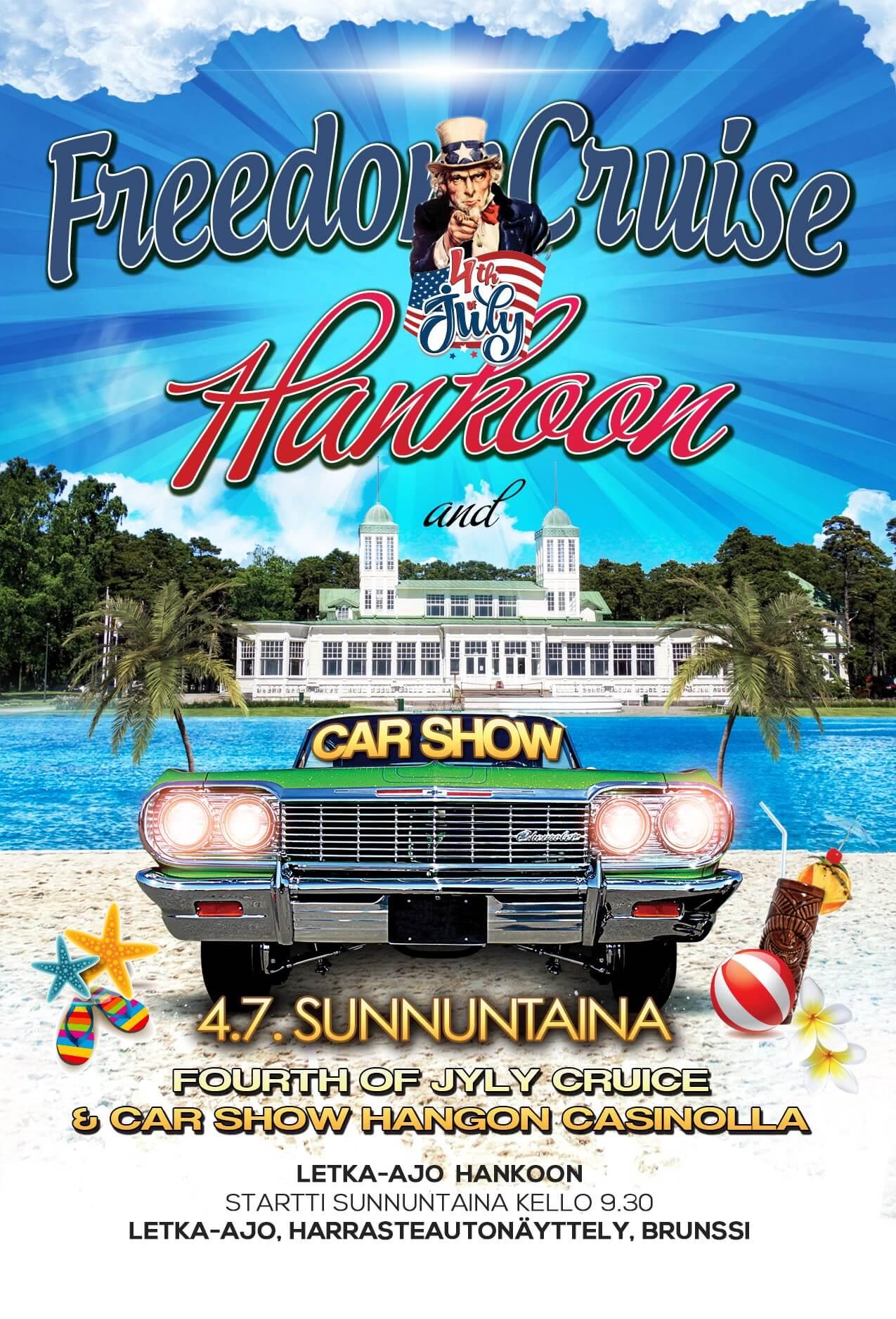 4th of July Freedom Cruise Hanko mainos
