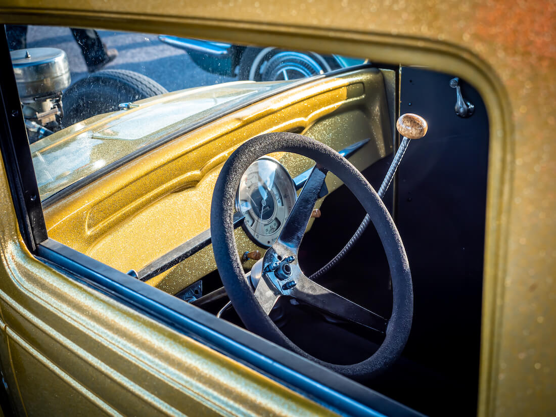 1933 Chevrolet 2d Coupe rodin flake-maalaus