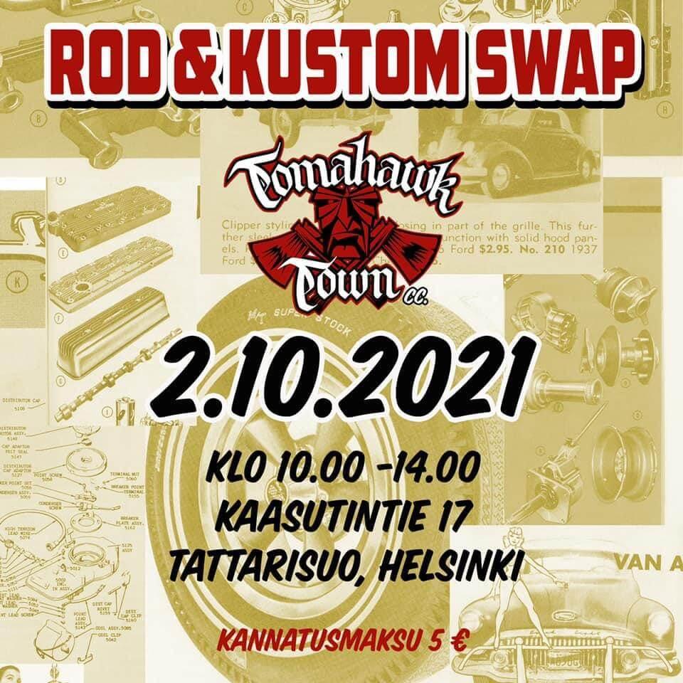 Tomahawk Town Rod&Custom Swap 2021 mainos