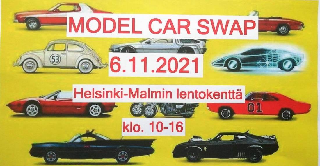 Model Car Swap tapahtuman mainosjuliste