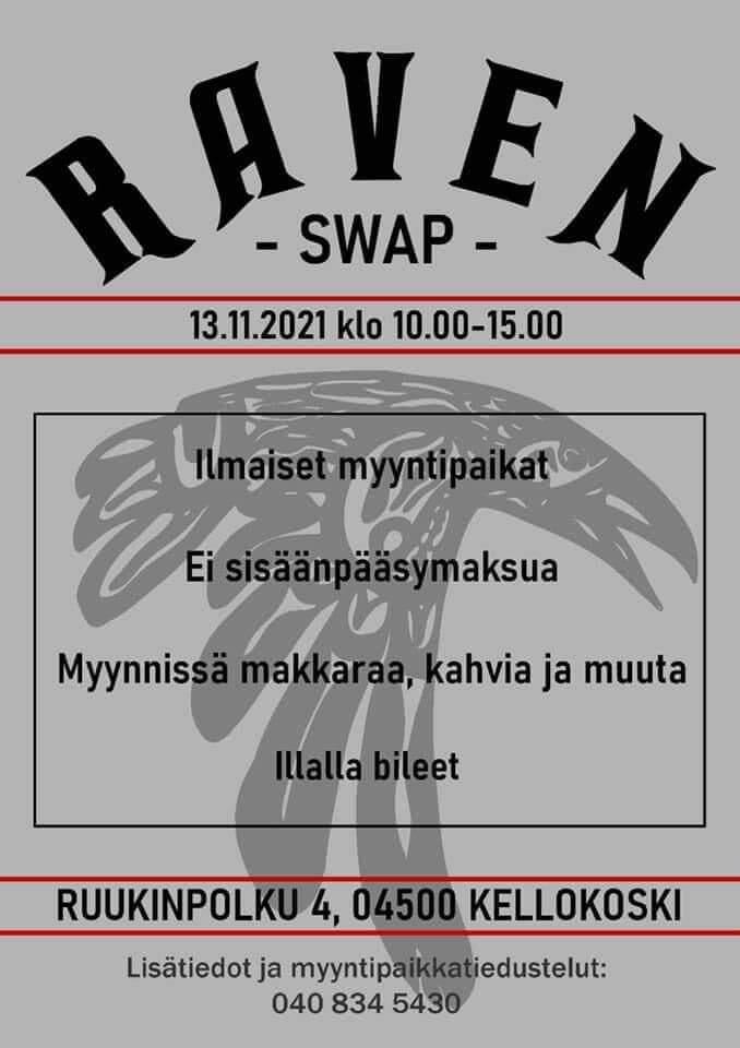 MC Raven Swapin mainosjuliste